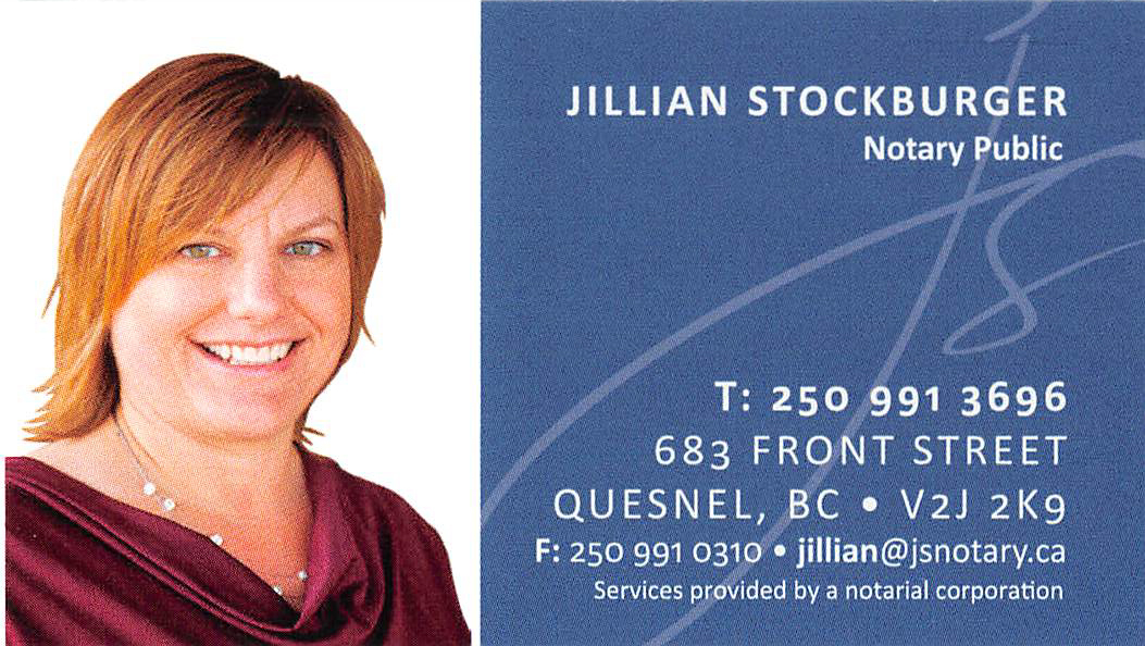 Jillian Stockburger Notary Public